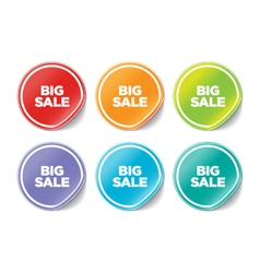 Big sales stickers vector