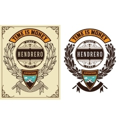 Baroque badge vector