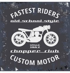 Motorcycle vintage stamp vector
