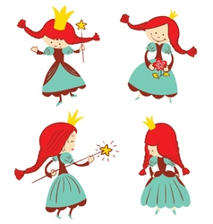 Fairy tail princess set vector