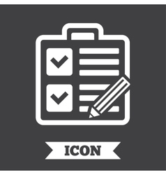 Checklist sign icon control list symbol vector