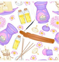 Aromatherapy pattern vector