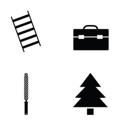 carpenter icon set vector image vector image
