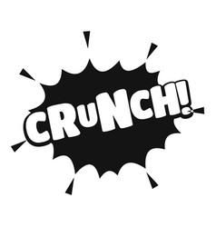 Comic boom crunch icon simple black style vector