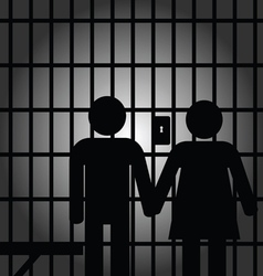 Couple in prision vector