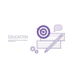 education concept business learning web banner vector image