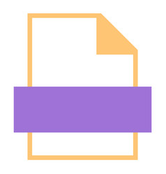 File type icon empty sign vector