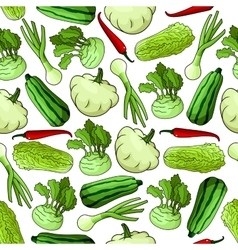 Fresh farm vegetables seamless background vector