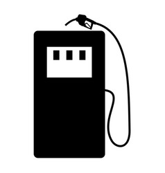Gas stration the black color icon vector