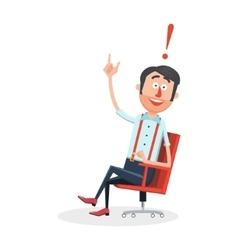 Happy man with new idea cartoon vector image