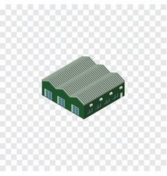 Isolated depot isometric warehouse element vector