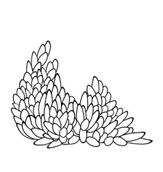leaf pattern in black and white vector image vector image
