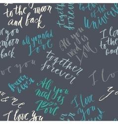 Love lettering pattern vector