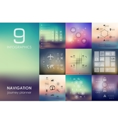 Navigation infographic with unfocused background vector