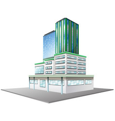 Office building with glass windows vector