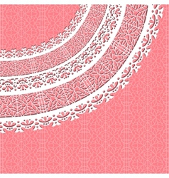 ornamental lace background vector image