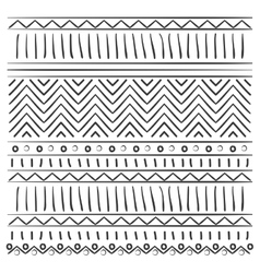 pattern with lines and circles vector image