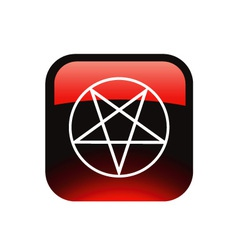 Red pentacle vector