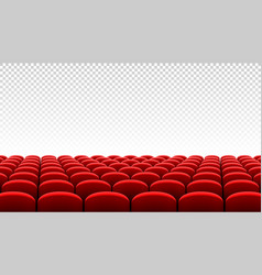 rows of red cinema movie theater seats on vector image