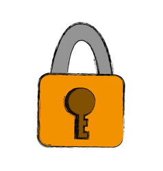 Security padlock isolated vector