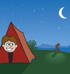 tent camping vector image vector image