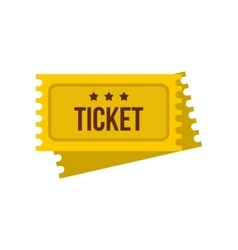 Tickets for the circus icon flat style vector image vector image