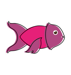 violet fish sideview icon image vector image vector image