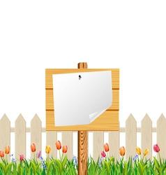 wooden billboard vector image vector image