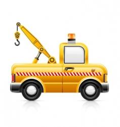 wrecker car service vector image