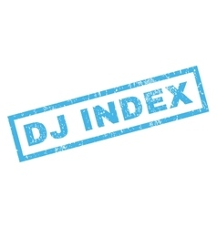 Dj index rubber stamp vector