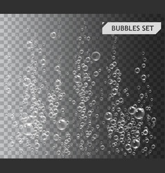 Bubbles under water vector