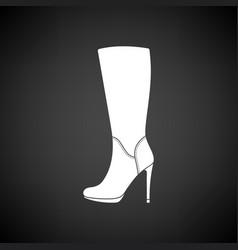 Autumn woman high heel boot icon vector
