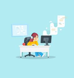 internet surfing concept flat vector image