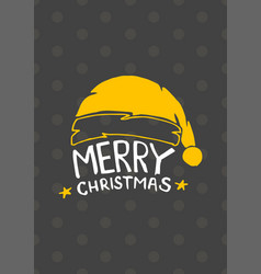 merry christmas and happy new year vintage card vector image