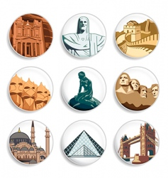 travel destination badges vector image