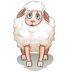 A white sheep vector