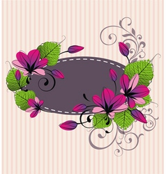 floral vector vector image