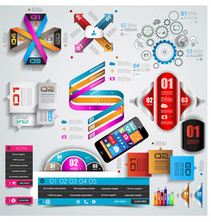 Mega collection of quality infographics objects vector