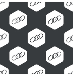 Black hexagon chain pattern vector