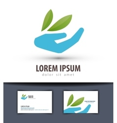 Ecology logo design template farm or vector