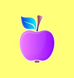 Abstract violet apple vector