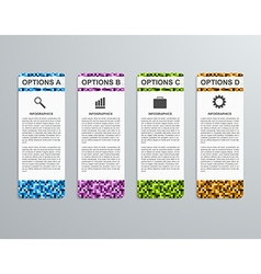 Abstract 3d business options paper infographics vector