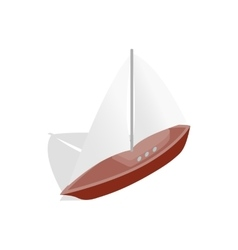 Boat icon isometric 3d style vector