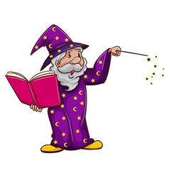 A witch using a spell vector image
