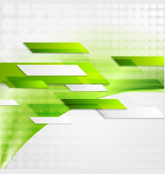 Abstract green tech wavy background vector