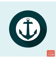 Anchor icon isolated vector image vector image