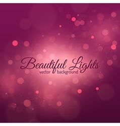 Bokeh light vintage background vector