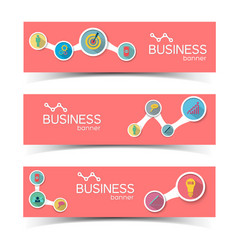 Business infographic horizontal banners vector