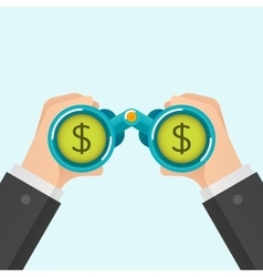 Businessmen find money vector image
