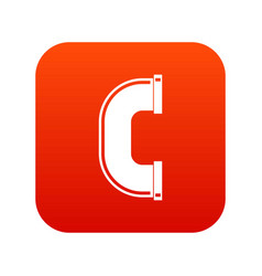C joint pipe icon digital red vector